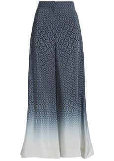 Stella Mccartney Woman Dégradé Silk Wide-leg Pants Black