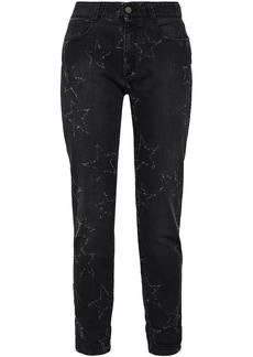 Stella Mccartney Woman Distressed Mid-rise Straight-leg Jeans Black