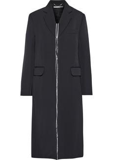 Stella Mccartney Woman Distressed Wool-twill Coat Black