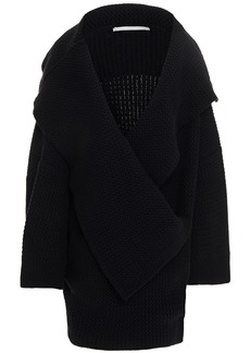 Stella Mccartney Woman Double-breasted Wool Cardigan Black
