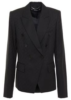 Stella Mccartney Woman Double-breasted Wool-jacquard Blazer Black