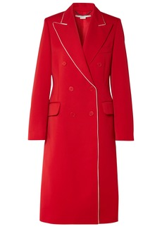 Stella Mccartney Woman Double-breasted Wool-twill Coat Red