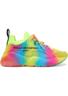 Stella Mccartney Woman Eclypse Printed Neoprene Faux Leather And Suede Exaggerated-sole Sneakers Multicolor