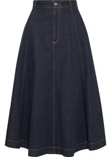 Stella Mccartney Woman Ellen Flared Denim Skirt Dark Denim