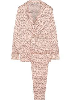 Stella Mccartney Woman Ellie Leaping Printed Stretch-silk Satin Pajama Set Ecru