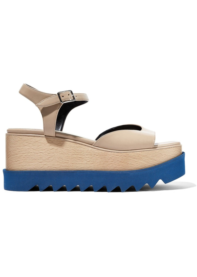 Stella Mccartney Woman Elyse Faux Leather Platform Sandals Beige