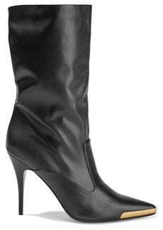 Stella Mccartney Woman Embellished Faux Leather Boots Black