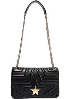 Stella Mccartney Woman Embellished Quilted Faux Leather Shoulder Bag Black