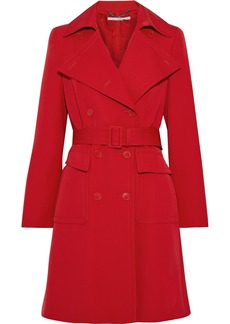 Stella Mccartney Woman Erika Wool-gabardine Trench Coat Red