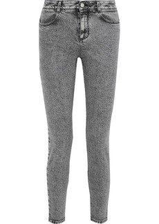 Stella Mccartney Woman Faded High-rise Skinny Jeans Gray