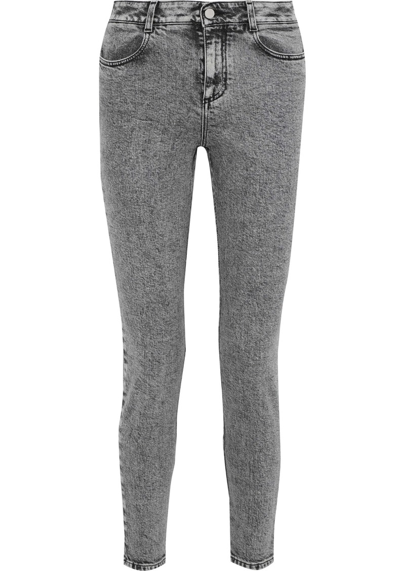 Stella Mccartney Woman Faded High-rise Skinny Jeans Gray