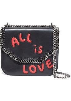 Stella Mccartney Woman Falabella Box Laser-cut Faux Leather Shoulder Bag Black