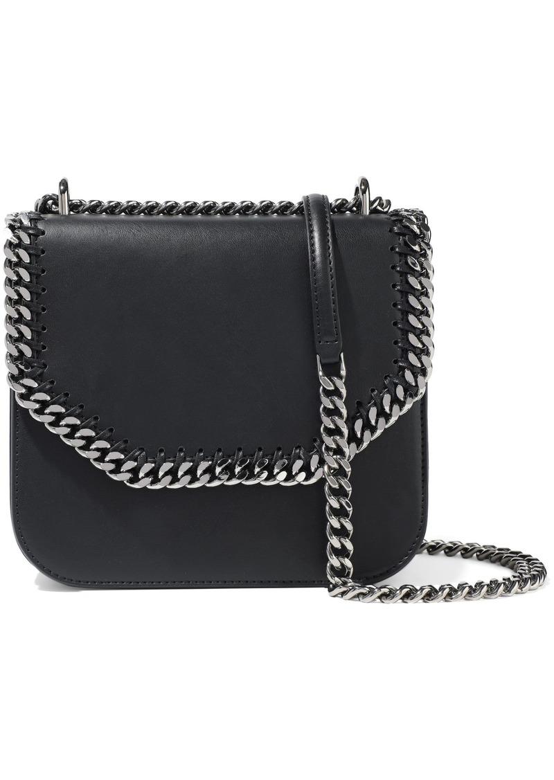 Stella Mccartney Woman Falabella Box Medium Faux Leather Shoulder Bag Black