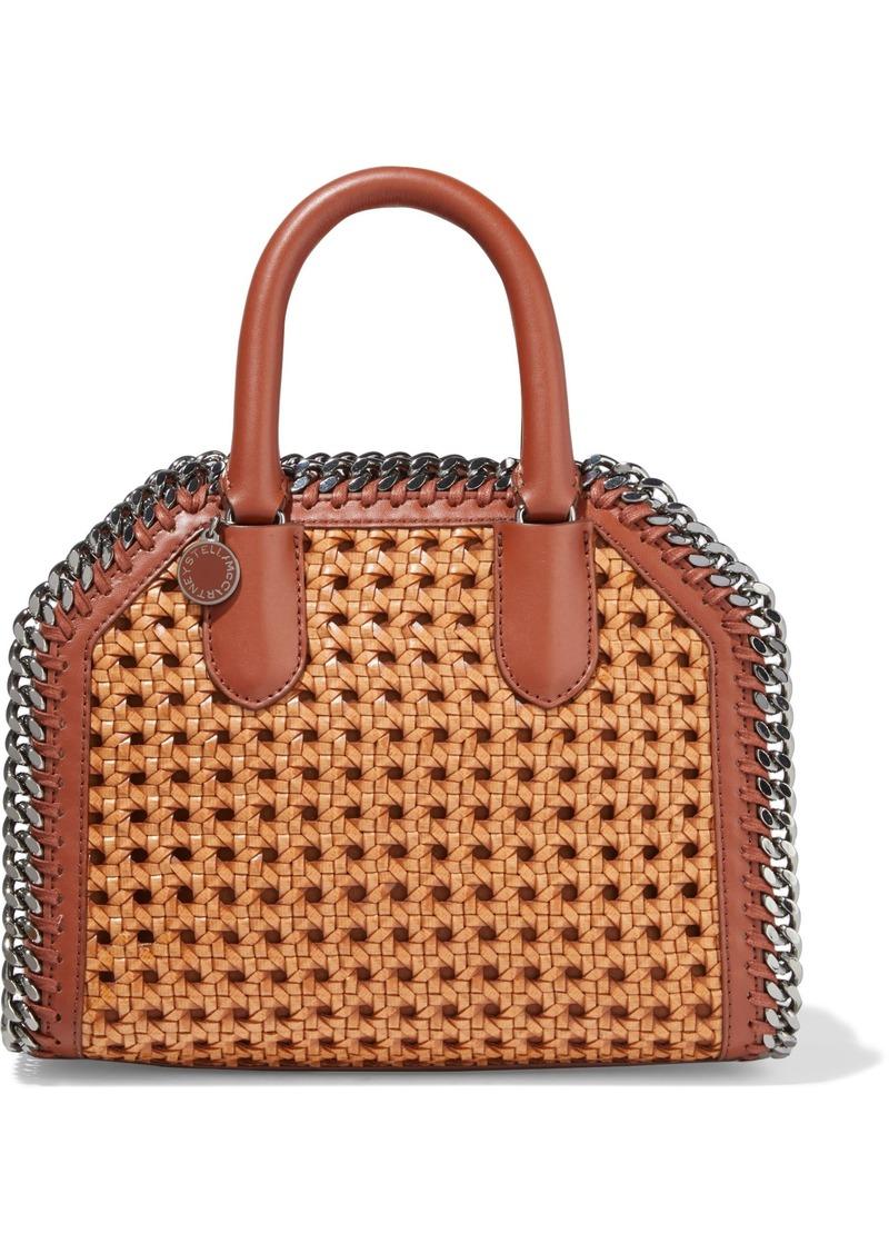 Stella Mccartney Woman Falabella Box Woven Faux Leather Tote Tan
