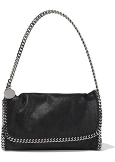 Stella Mccartney Woman Falabella Faux Brushed-leather Shoulder Bag Black