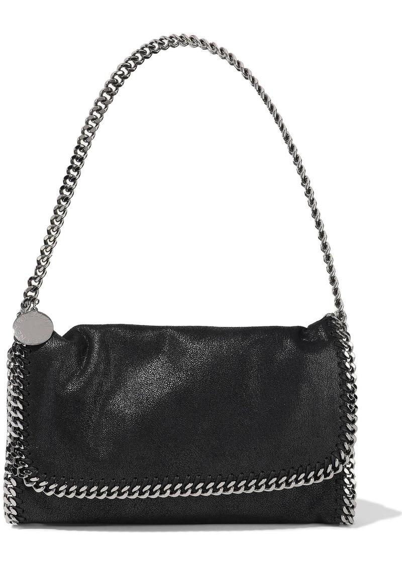 Stella Mccartney Woman Falabella Faux Brushed-leather Shoulder Bag Black