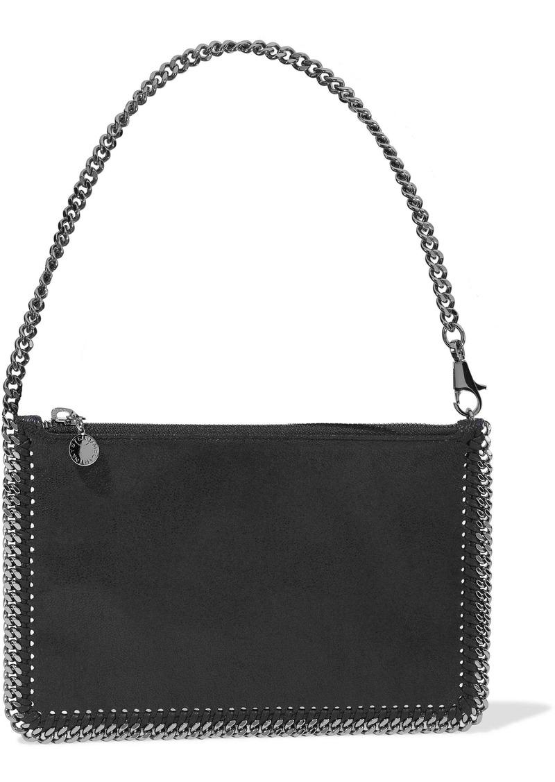 Stella Mccartney Woman Falabella Faux Brushed-leather Shoulder Bag Midnight Blue
