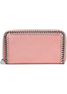 Stella Mccartney Woman Falabella Faux Brushed-leather Continental Wallet Antique Rose