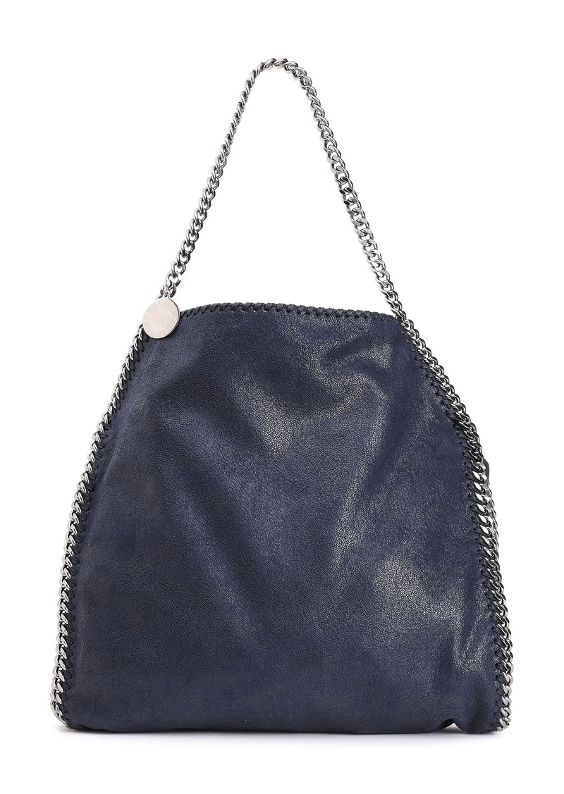 Stella Mccartney Woman Falabella Faux Brushed-leather Shoulder Bag Midnight Blue