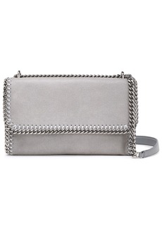 Stella Mccartney Woman Falabella Faux Brushed-leather Shoulder Bag Stone