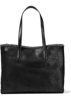 Stella Mccartney Woman Falabella Faux Brushed-leather Tote Black