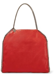 Stella Mccartney Woman Falabella Faux Brushed-leather Tote Claret