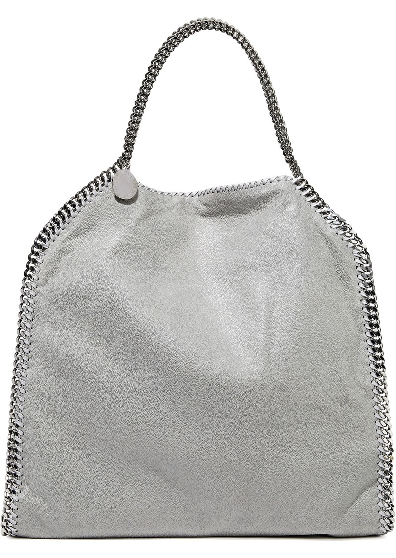 Stella Mccartney Woman Falabella Faux Brushed-leather Tote Light Gray
