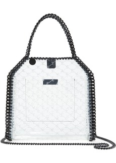 Stella Mccartney Woman Falabella Logo-print Pvc Tote Clear
