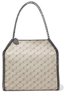 Stella Mccartney Woman Falabella Medium Faux Leather-trimmed Logo-jacquard Tote Beige
