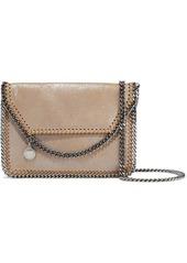 Stella Mccartney Woman Falabella Metallic Faux Brushed-leather Shoulder Bag Neutral