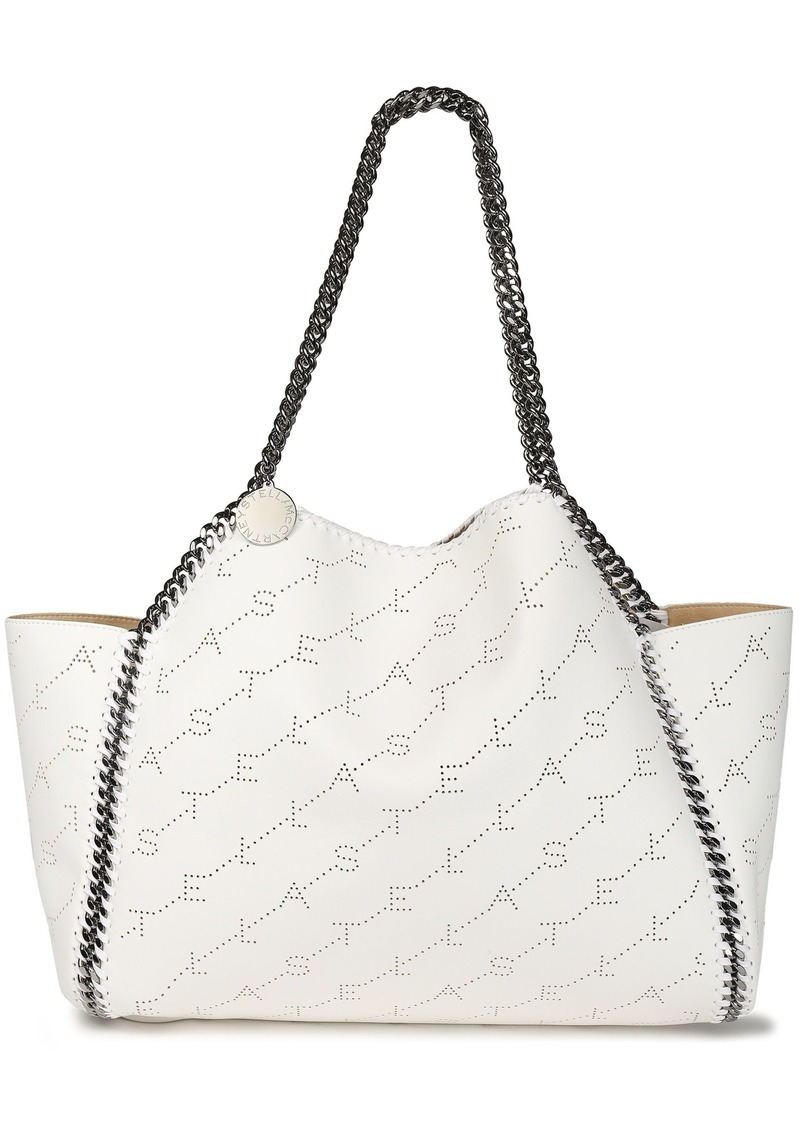 Stella Mccartney Woman Falabella Reversible Perforated Faux Leather Tote White