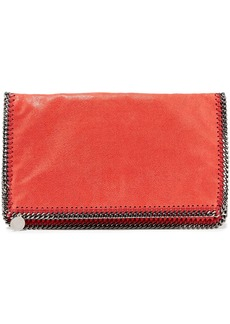 Stella Mccartney Woman Falabella Shaggy Faux Brushed-leather Fold-over Clutch Red