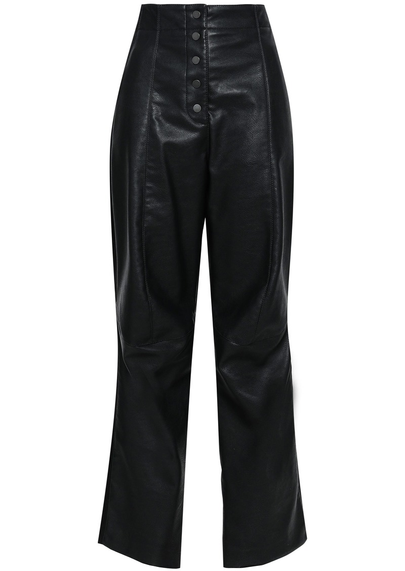 Stella Mccartney Woman Faux Leather Straight-leg Pants Black