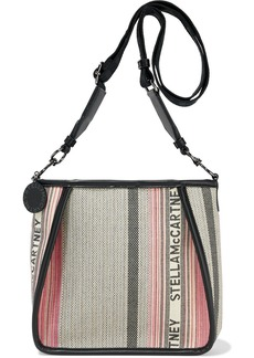 Stella Mccartney Woman Faux Leather-trimmed Cotton-jacquard Shoulder Bag Multicolor