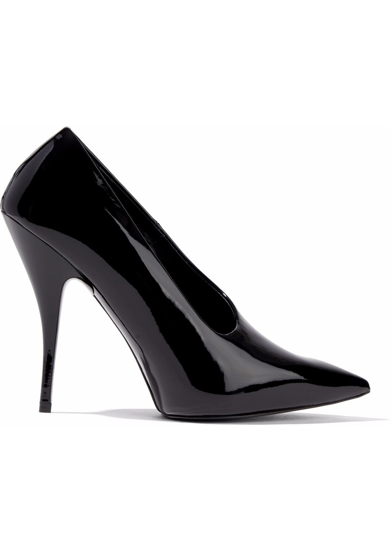 Stella Mccartney Woman Faux Patent-leather Pumps Black