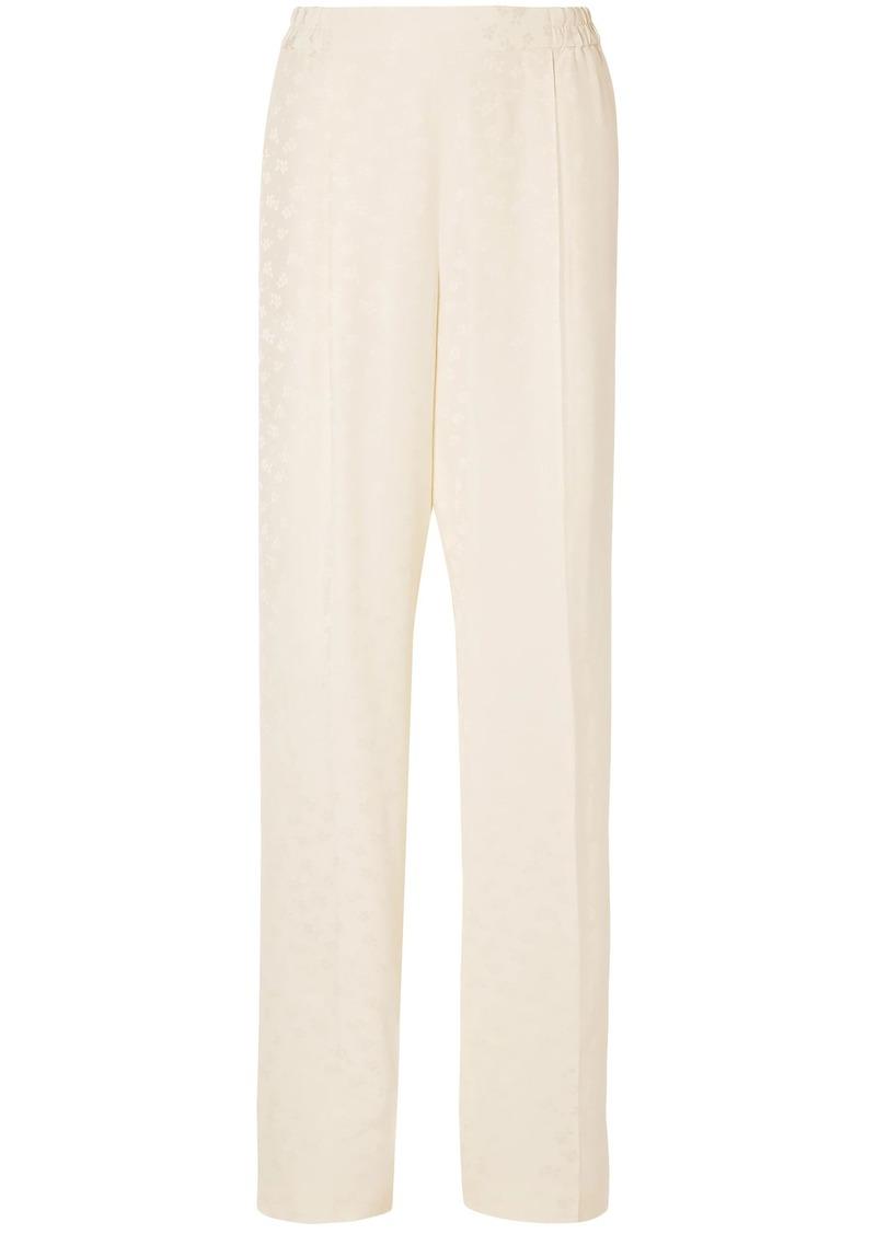 Stella Mccartney Woman Floral-jacquard Wide-leg Pants Ivory