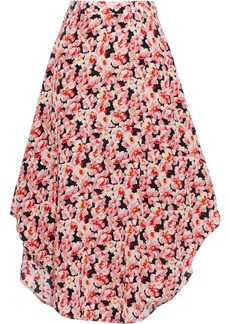 Stella Mccartney Woman Floral-print Silk Crepe De Chine Skirt Pink