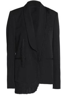 Stella Mccartney Woman Fringe-trimmed Wool Blazer Black