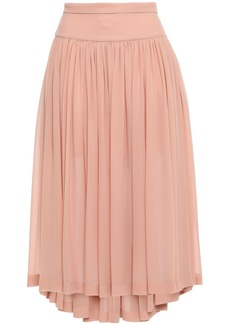 Stella Mccartney Woman Gathered Silk-georgette Midi Skirt Blush