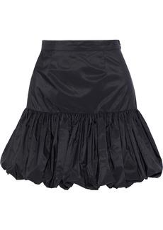 Stella Mccartney Woman Gathered Taffeta Mini Skirt Black