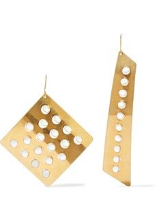 Stella Mccartney Woman Gold-tone Enamel Earrings Gold