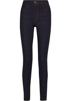 Stella Mccartney Woman High-rise Skinny Jeans Black