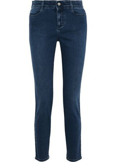 Stella Mccartney Woman High-rise Skinny Jeans Mid Denim