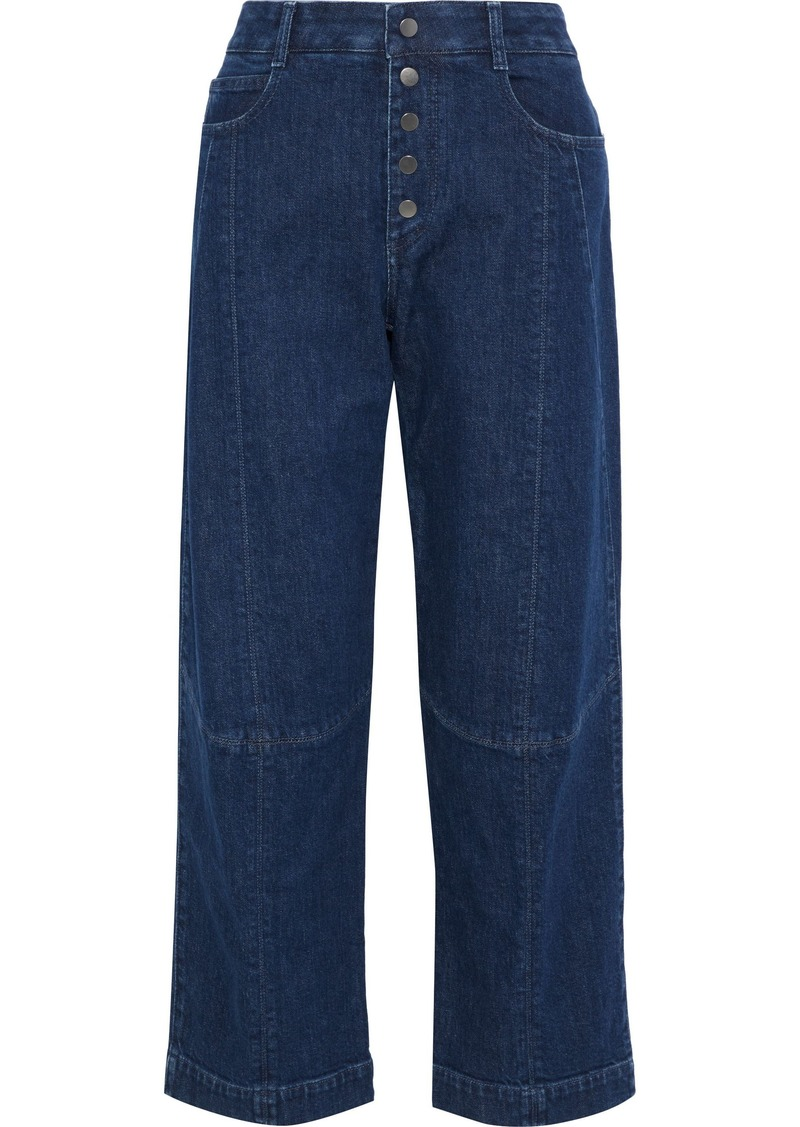Stella Mccartney Woman High-rise Straight-leg Jeans Mid Denim