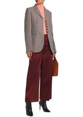 Stella Mccartney Woman Houndstooth Wool Blazer Light Brown