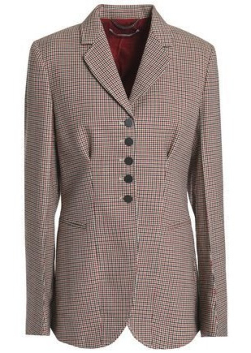 Stella Mccartney Woman Houndstooth Wool Blazer Light Brown