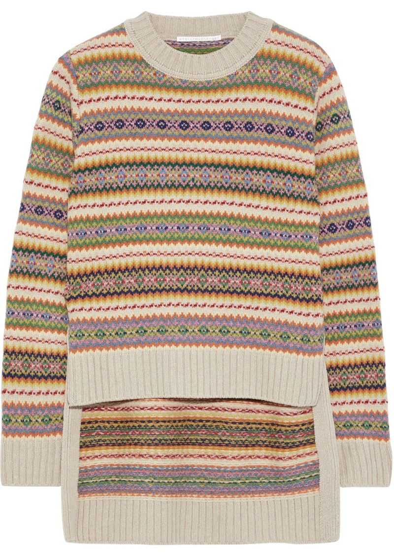 Stella Mccartney Woman Intarsia Wool Sweater Multicolor