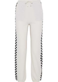 Stella Mccartney Woman Intarsia Wool Tapered Pants Ivory