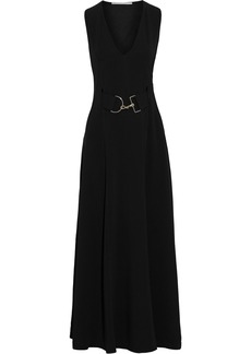 Stella Mccartney Woman Isabella Belted Stretch-crepe Maxi Dress Black