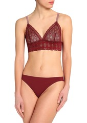 Stella Mccartney Woman Jasmine Inspiring Stretch-lace Soft-cup Triangle Bra Claret